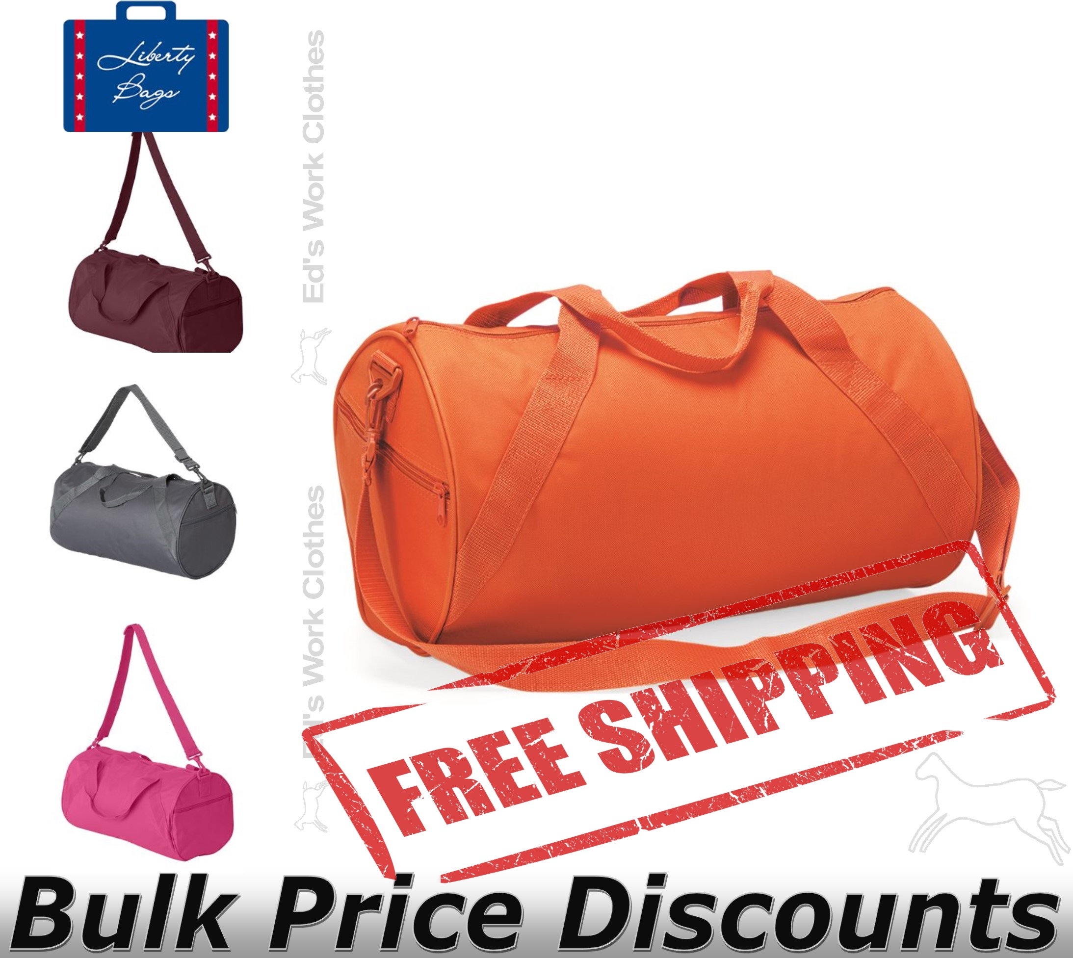Liberty-Bags-Recycled-Small-Duffel-Gym-Bag-8805-Size-18-034-x-10-034-x-10-034